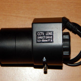 Lentila obiectiv varifocala autoiris CCTV 5-50mm nou