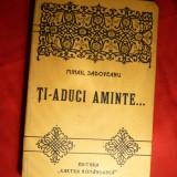 M. Sadoveanu - Ti-aduci aminte... - Prima Ed. 1923 - Nuvela
