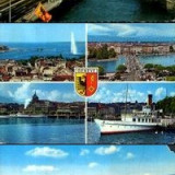 Geneva, set 3 ilustrate, Circulata, Fotografie, Elvetia