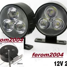 Lumini de zi, daytime running lights, DRL, daylights, proiectoare cu led, 3 led, Universal