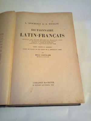 L.QUICHERAT et A.DAVELUY - DICTIONNAIRE LATIN - FRANCAIS    ~ HACHETTE, PARIS, PAG.1515, Ed.veche ~ foto