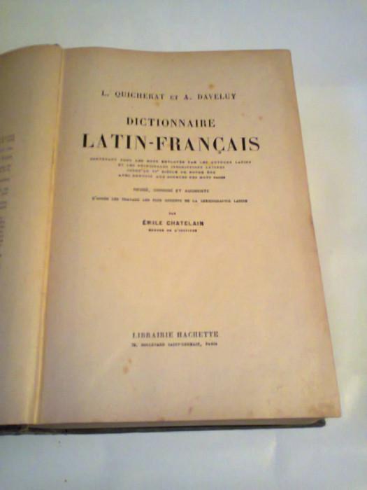 L.QUICHERAT et A.DAVELUY - DICTIONNAIRE LATIN - FRANCAIS    ~ HACHETTE, PARIS, PAG.1515, Ed.veche ~