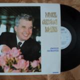 DISC / LP / PLACA DIN VINIL PT. PICK-UP - POPORUL CEAUSESCU ROMANIA - CANTECE PATRIOTICE - R A R I T A T E