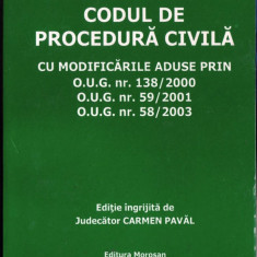CODUL DE PROCEDURA CIVILA de CARMEN PAVAL - Carte Drept procesual civil