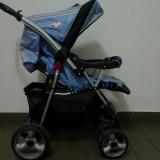 Carucior bebelusi marca prmii pasi - Carucior copii 3 in 1, 0-6 luni, Pliabil, Albastru