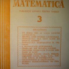 Gazeta matematica - Nr. 3 / 1990 , Anul XCV