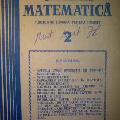 Gazeta matematica - Nr. 2 / 1988 , Anul XCIII