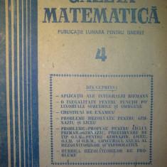Gazeta matematica - Nr. 4 / 1988 , Anul XCIII