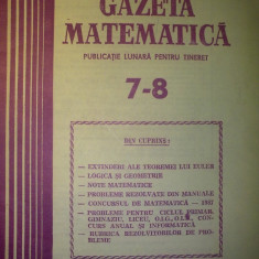 Gazeta matematica - Nr. 7-8 / 1987 , Anul XCII