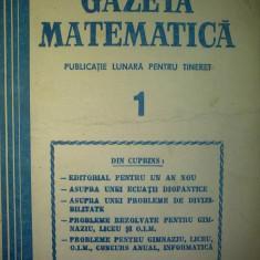Gazeta matematica - Nr. 1 / 1981 , Anul LXXXVI