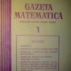 Gazeta matematica - Nr. 1 / 1987 , Anul XCII