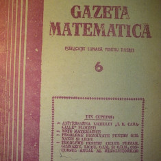 Gazeta matematica - Nr. 6 / 1989 , Anul XCIV