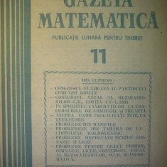 Gazeta matematica - Nr. 11 / 1984 , Anul LXXXIX