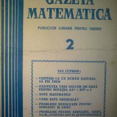 Gazeta matematica - Nr. 2 / 1981 , Anul LXXXVI