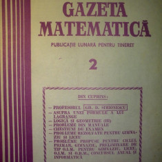 Gazeta matematica - Nr. 2 / 1987 , Anul XCII
