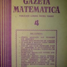 Gazeta matematica - Nr. 4 / 1987 , Anul XCII