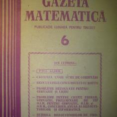 Gazeta matematica - Nr. 6 / 1987 , Anul XCII