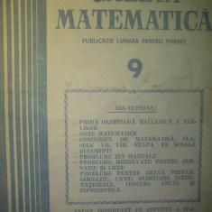 Gazeta matematica - Nr. 9 / 1984 , Anul LXXXIX