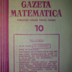 Gazeta matematica - Nr. 10 / 1987 , Anul XCII