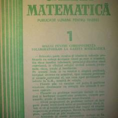 Gazeta matematica - Nr. 1 / 1986 , Anul XCI