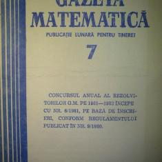 Gazeta matematica - Nr. 7 / 1981 , Anul LXXXVI