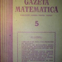 Gazeta matematica - Nr. 5 / 1987 , Anul XCII
