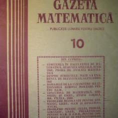 Gazeta matematica - Nr. 10 / 1989 , Anul XCIV