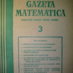Gazeta matematica - Nr. 3 / 1986 , Anul XCI