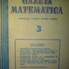 Gazeta matematica - Nr. 3 / 1981 , Anul LXXXVI