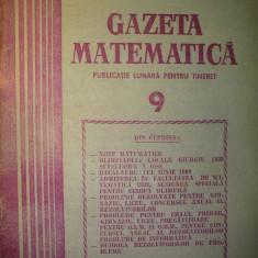 Gazeta matematica - Nr. 9 / 1989 , Anul XCIV