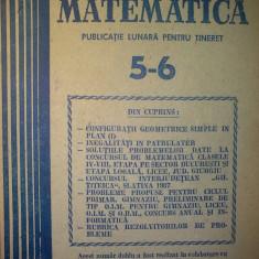 Gazeta matematica - Nr. 5-6 / 1988 , Anul XCIII