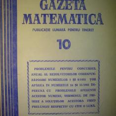 Gazeta matematica - Nr. 10 / 1981 , Anul LXXXVI