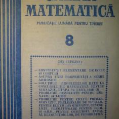 Gazeta matematica - Nr. 8 / 1988 , Anul XCIII