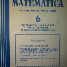 Gazeta matematica - Nr. 6 / 1981 , Anul LXXXVI
