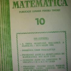 Gazeta matematica - Nr. 10 / 1986 , Anul XCI