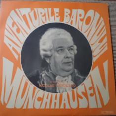 Aventurile baronului Munchhausen disc vinyl teatru dramatizare poveste copii lp - Muzica pentru copii electrecord, VINIL