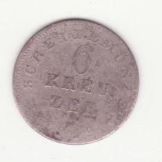 MONEDA ARGINT - 6 KREUZER 1819 - HESSE - DARMSTADT, Europa