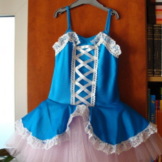 Costum de balet - Costum copii, Culoare: Bleu, Bleu