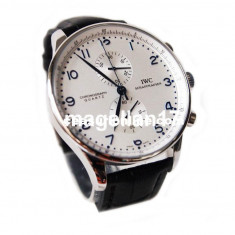 IWC Schaffhausen Portuguese Chronograph-- Cea mai buna calitate! CUTIE CADOU *** - Ceas barbatesc Iwc, Lux - elegant, Quartz, Inox, Piele, Cronograf