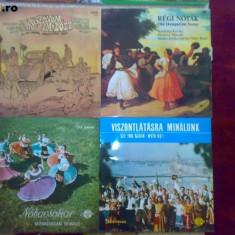 Vand 8 discuri vinil cu muzica folk, folclor etc. din Ungaria Qualiton, Hungaroton