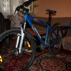 Bicicleta Mongose - Mountain Bike Nespecificat, 19 inch, MTB XC Hardtail, Discuri, Cu amortizor, Aer/ulei