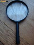 Lupa neagra lentila medie marire citire scris diametru 6 cm 60 mm