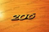 Emblema scris 206, Peugeot, 206 (2A/C) - [1998 -  ]