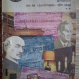 """Amintiri de la """"Junimea""""din Iasi  vol II  - -George Panu / 1971"""