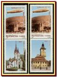 Romania 2004 - Zborul Zeppelinului deasupra Brasovului, cu vignete diferite, Aviatie, Nestampilat