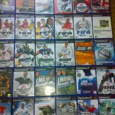 Vand 28 jocuri Playstation 2 Ps2 cu sport : Fifa, Pes, Maffen NFL, Nhl, Club manager etc - Jocuri PS2