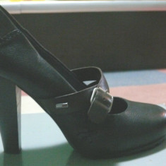 Pantofi dama Tommy Hilfinger - Pantof dama Tommy Hilfiger, Culoare: Negru, Marime: 38.5, Negru