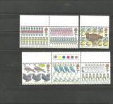 ANGLIA 1977 - FAUNA PASARI CRACIUN, serie nestampilata cu PUNTE D37, Europa, Natura