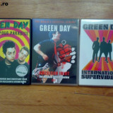 Vand 3 DVD-uri cu GREEN DAY - Muzica Rock