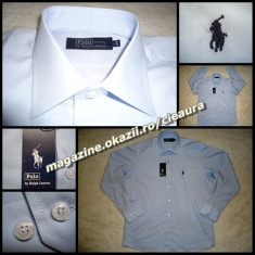 CAMASA BARBATI BLEU REGULAR MANECA LUNGA 100% BUMBAC firma POLO by RALPH LAUREN, Marime: XL